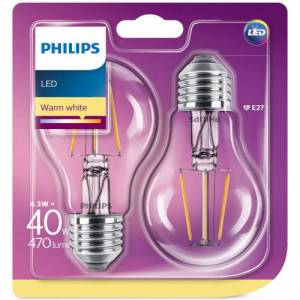 Philips 2-packLEDE27StdFrost40W