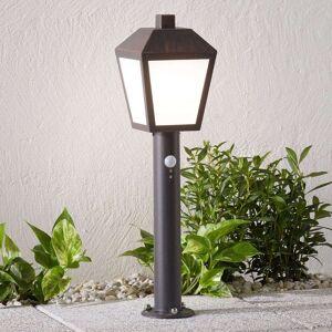 Lampenwelt.com LED-sockellampa Bendix med sensor