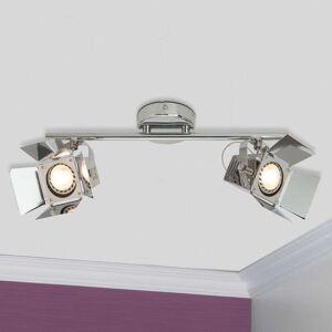 Brilliant LED-spot-taklampa Movie, 2 ljuskällor, krom