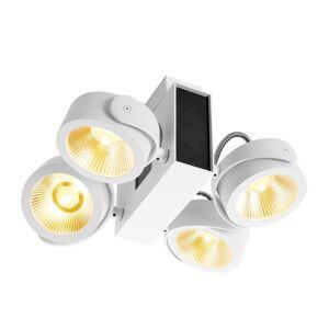 SLV Tec Kalu LED-takspotlight 4 lampor, 24° s/v