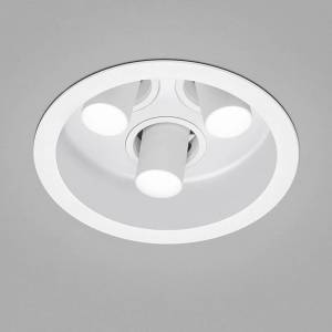 Helestra Run LED-inbyggnadsspot 3 lampor, vit/vit