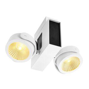 SLV Tec Kalu LED-takspotlight 2 lampor, 24° s/v