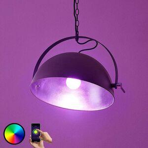 Lampenwelt.com Lindby Smart LED-hængelampe Muriel, sølv