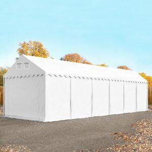 TOOLPORT Lagertelt 4x12m PVC 550 g/m² hvid 100 % vandtæt Unterstand, Lager hvid