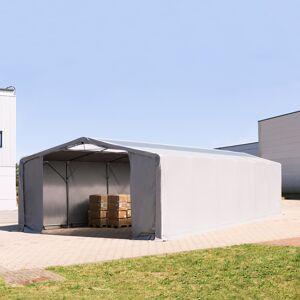 TOOLPORT Telthal 8x16m PVC 550 g/m² grå 100 % vandtæt Industriezelt grå