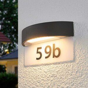 Lampenwelt.com Husnummerlampe Alena med LED-lys