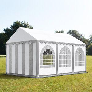 taltpartner.se Partytält 3x6m PVC 550 g/m² grå-vit vattentät