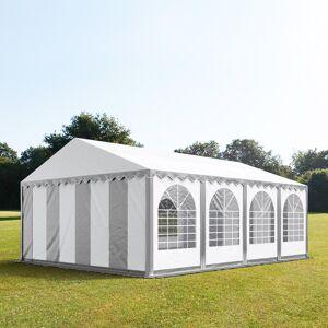 taltpartner.se Partytält 5x8m PVC 550 g/m² grå-vit vattentät