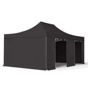 taltpartner.se Snabbtält 4x6m Long-Life PVC 620 g/m² svart vattentät