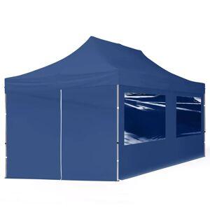 taltpartner.se Snabbtält 3x6m HögkvalitetsPolyester 300 g/m² blå vattentät