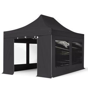 taltpartner.se Snabbtält 3x6m Long-Life PVC 620 g/m² svart vattentät