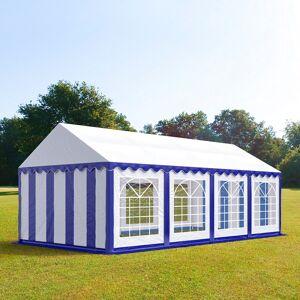 taltpartner.se Partytält 4x8m PVC 500 g/m² blå-vit vattentät