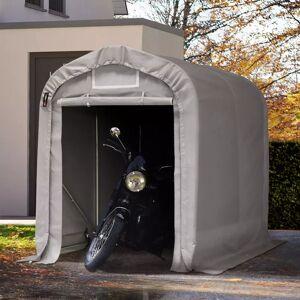 taltpartner.se Garagetält 1,6x2,4m PVC 550 g/m² grå vattentät
