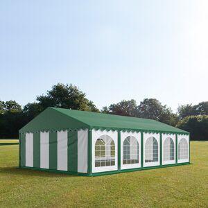 taltpartner.se Partytält 5x10m PVC 500 g/m² grön-vit grönt tak vattentät
