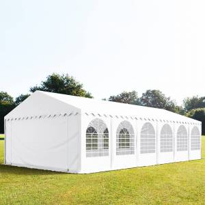 taltpartner.se Partytält 6x12m PVC 550 g/m² vit vattentät