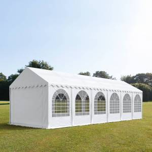 taltpartner.se Partytält 4x12m PVC 550 g/m² vit vattentät