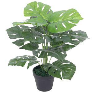 vidaXL Kunstig vindusblad med potte 45 cm grønn