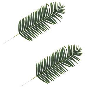 vidaXL Kunstige palmeblader 2 stk grønn 140 cm