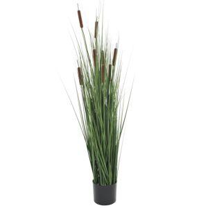 vidaXL Kunstig gressplante med sivaks 120 cm