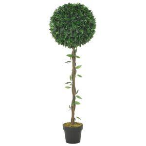 vidaXL Kunstig laurbærtre med potte grønn 130 cm