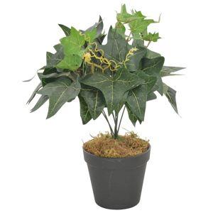 vidaXL Kunstige eføyblader med potte grønn 45 cm