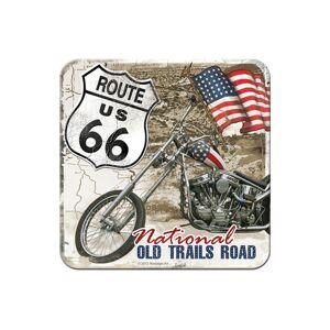ART Retro lasinalusta Route 66 Old Trails Road 4 kpl