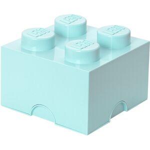 Lego Storage LEGO, Oppbevaring 4, Design Collection, Aqua One Size