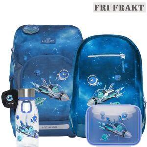 Beckmann Skolesekk Active Air Flx Sett 4 Deler, Galaxy