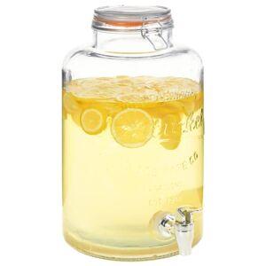 vidaXL Vanndispenser XXL med kran gjennomsiktig 8 L glass