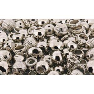Staples Plastpärlor och ringar, 10-18 mm, silver