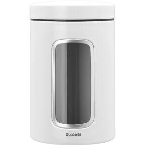 Brabantia förvaringsburk 1.4 l med fönster. vit