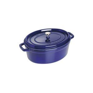 Staub Cocotte Oval Blå, Cocotte, 33 cm, Mørkeblå
