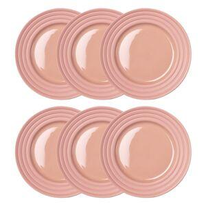 Lines-lautanen pieni Ø 21 cm, 6 kpl vaaleanpunainen  - Vaaleanpunainen