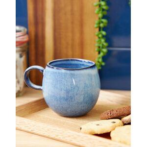 Bloomingville blue glazed hand made round mug - Multi