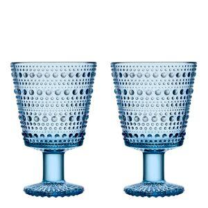 iittala Kastehelmi Glass på stett 2-pakning Aqua