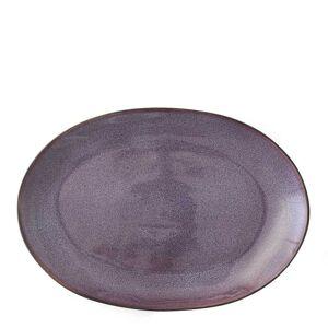 Bitz Fat Oval 36x25 cm Svart/Lilla