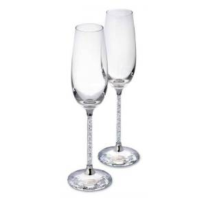 Swarovski Crystalline Champagneglass, 2-pakk