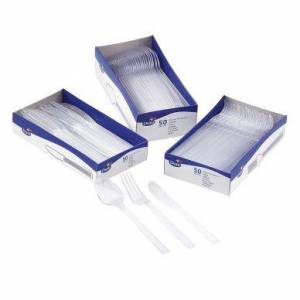 Bestikk transparent gaffel (50) 7321011548668 Tilsvarer: N/A