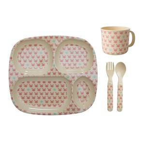 Rice Baby Melamine Dinner Set with Crab and Starfish Prints