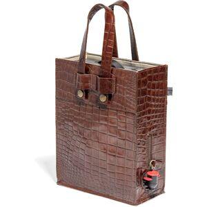 Top Drawer Bag in box i Croco mönster, Dk Cognac, 3 lit