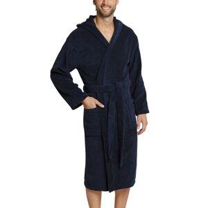 Schiesser Essentials Terry Cloth Bathrobe - Navy-2