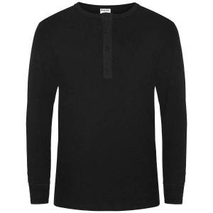 Organic Cotton Grandpa Long Sleeve - Black  - Size: 17022-400 - Color: musta