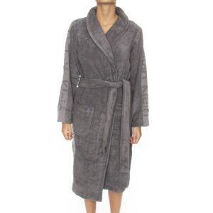 Calvin Klein Women Terry Logo Robe - Grey