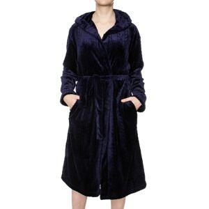 Damella Fleece Cable Hooded Robe - Navy-2 * Kampanje *