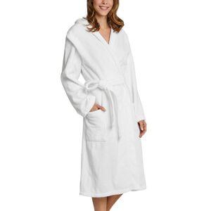 Schiesser Essentials Bathrobe With Hood - White