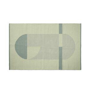FLEXA - Flatvevd teppe 180x120cm - Grønn