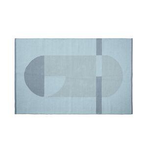 FLEXA - Flatvevd teppe 180x120cm - Blå