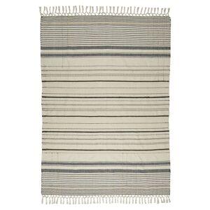 Ib Laursen Teppe - Natur m. striper, 180x120