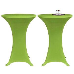 vidaXL Elastisk bordduk 2 stk 60 cm Grønn