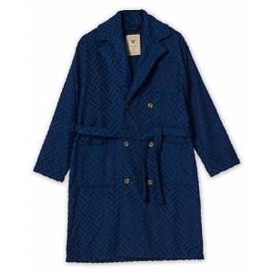 OAS The Royal Double Breasted Robe Blue